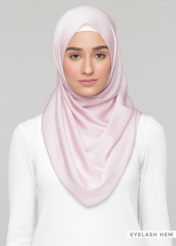 Discontinued Item: Satin Matte in Blush Pink (Eyelash Hem)