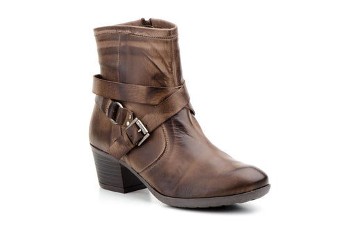 MANOSI-LEATHER BOOTIES-MADE IN SPAIN
