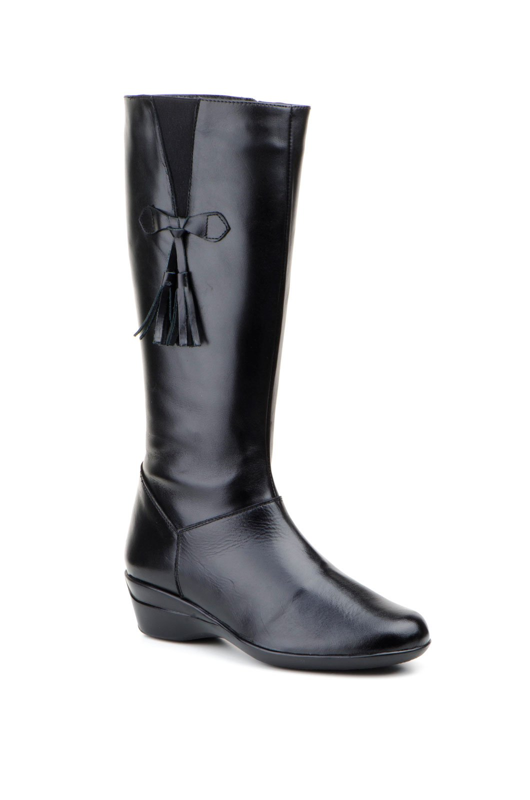 JAM-WEDGE LEATHER BOOT-MADE IN SPAIN