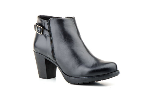 JAM-LEATHER BOOTIES-MADE IN SPAIN
