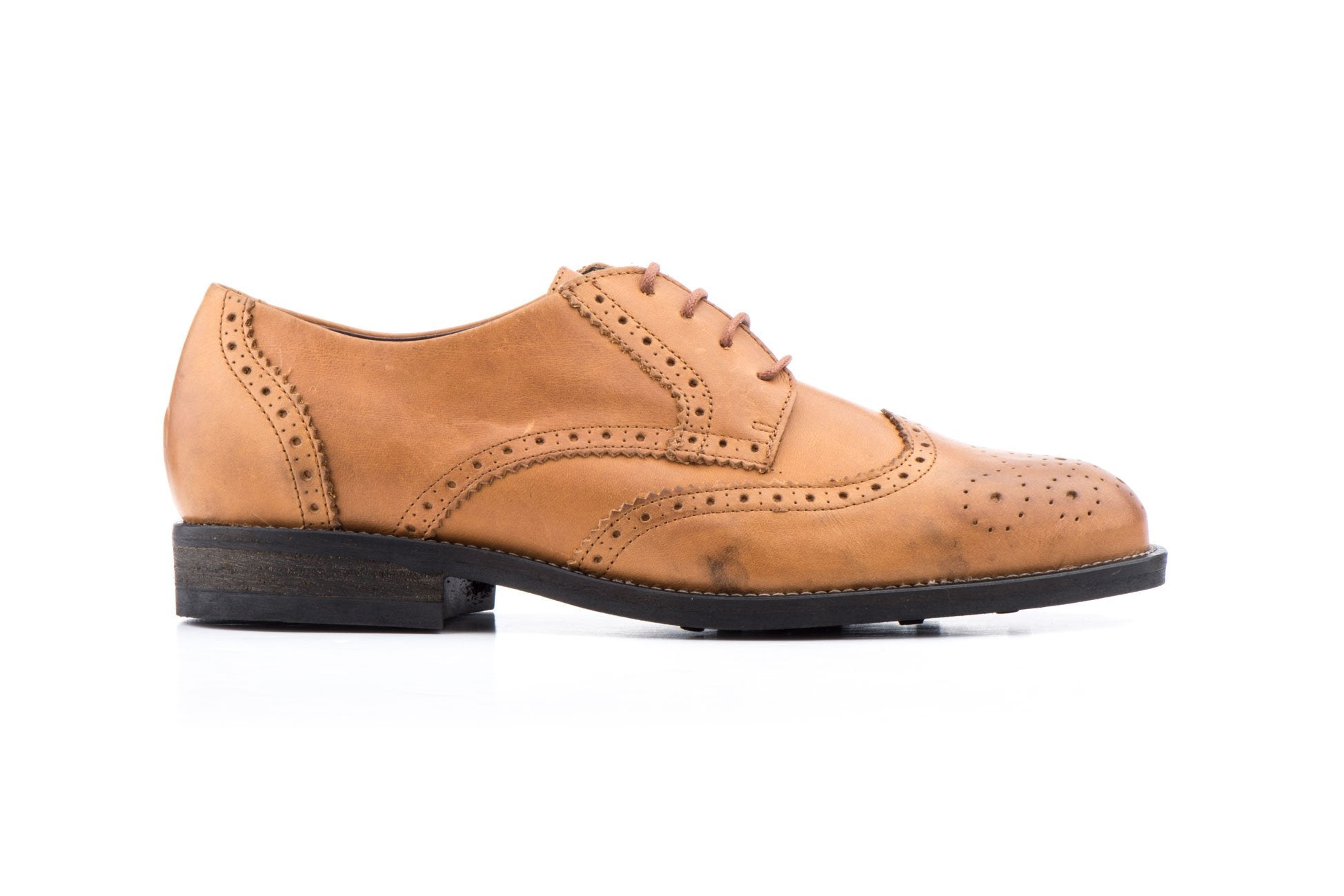 SCN-LEATHER WING TIP DRESS SHOE-MADE IN SPAIN