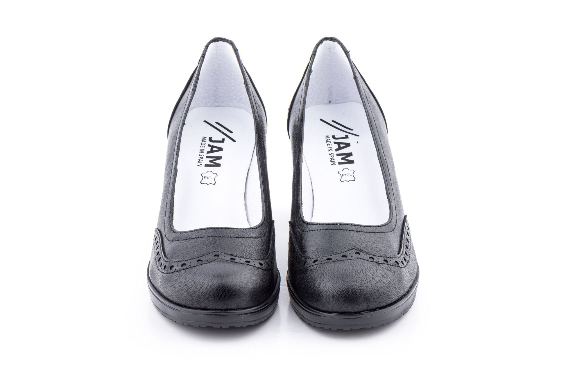 JAM-LEATHER MARY JANE PUMP-MADE IN SPAIN