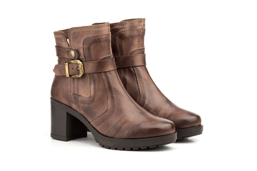 MANSOI-LEATHER BOOTIES-MADE IN SPAIN
