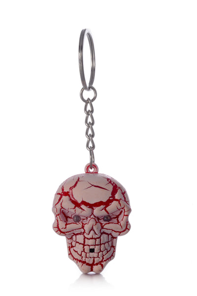 LED Light Skull Keychain w/ Ghost Sound