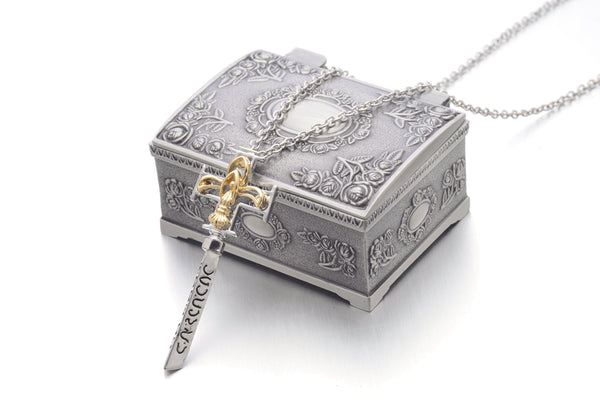DA VINCI CODE Bank Key Silver/Gold Plated Pendant Necklace