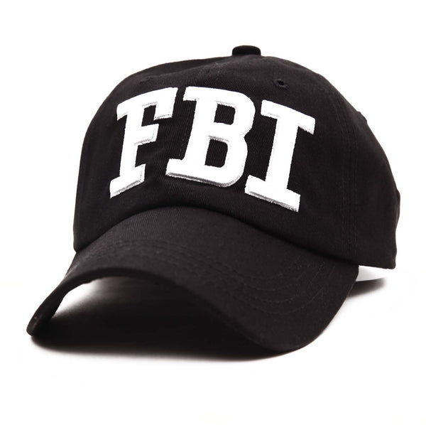 Unisex FBI Federal Bureau Of Investigation Print Adiustable Hat Baseball Cap