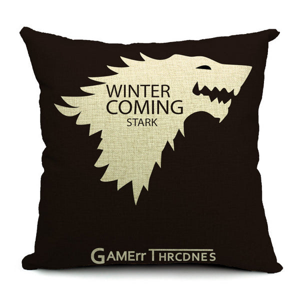 "18"" Premium Game of Thrones House Sigil Crest Print Pillow Cover Cushion Case"