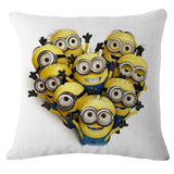 18 X 18 Inches Premium Despicable Me Minions Print Pillow Cover Cushion Case