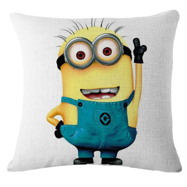 ... 18 X 18 Inches Premium Despicable Me Minions Print Pillow Cover Cushion  Case ...