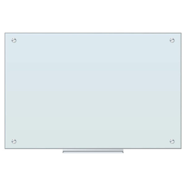 Magnetic Tempered Glass White Dry Erase Board 48 X 36 Inches