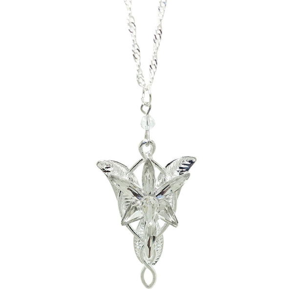 Silver Plated Lord of the Rings Arwen's Evenstar Pendant Necklace Earring