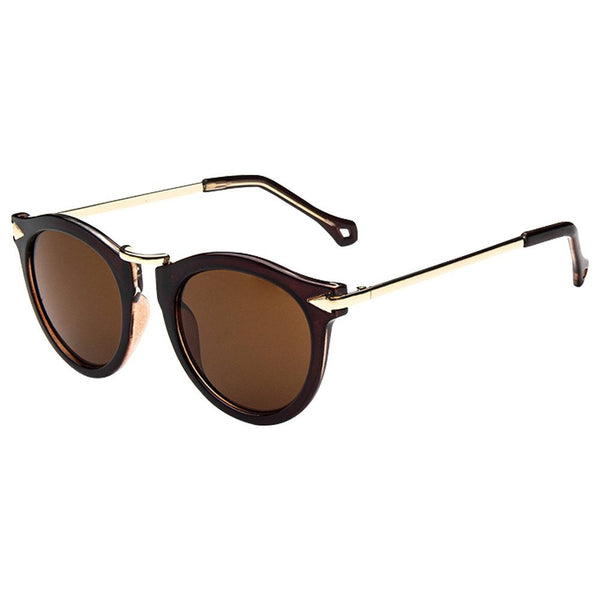 Women's Unisex Arrow Style Sunglasses Metal Frame Round Sunglasses