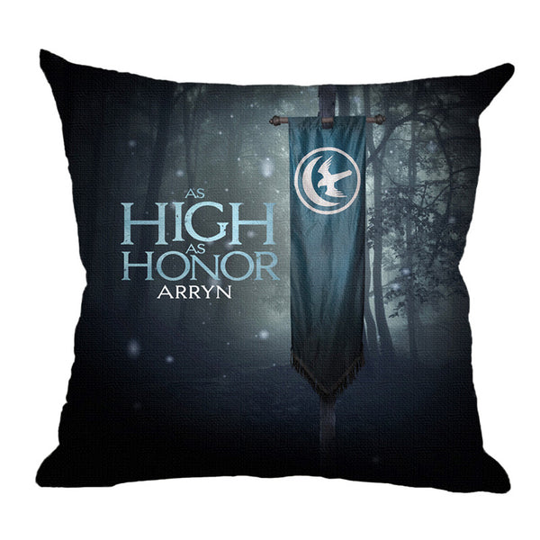 "18"" Premium Game of Thrones House Motto Print Pillow Cover Cushion Case"