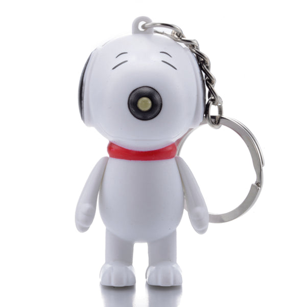 Snoopy LED Flashlight Light Up Keychain w/ Sound (Barks)