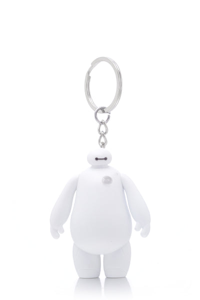 Big Hero 6 White Baymax LED Flashlight Keychain Ring with Sound