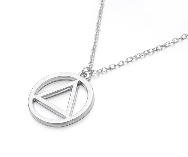 Hip Hop Eminem AA Logo Metal Pendant Necklace