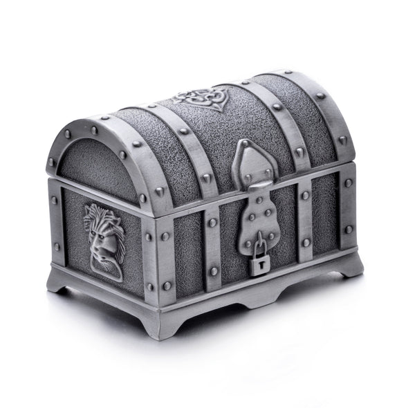 Vintage Pewter Tooth Fairy Treasure Chest Box