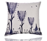 18'' X 18'' Premium Abstract Trees Print Cotton Linen Decorative Pillow Cover Cushion Case