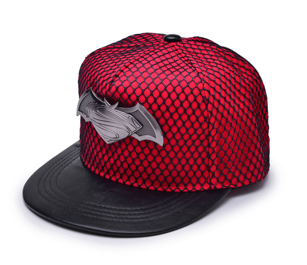 Batman V Superman: Dawn of Justice Metal Symbol Cap w/ Black Mesh Hip-hop Snapback Hat