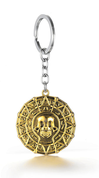 Pirates Of The Caribbean Movies Cursed Aztec Cortez Coin Pendant Keychain