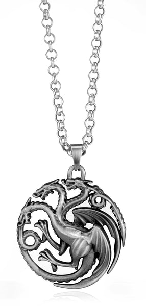 Game of Thrones House Targaryen Sigil Crest Metal Necklace