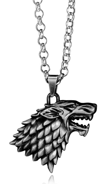 Game of Thrones House Stark Sigil Crest Metal Necklace