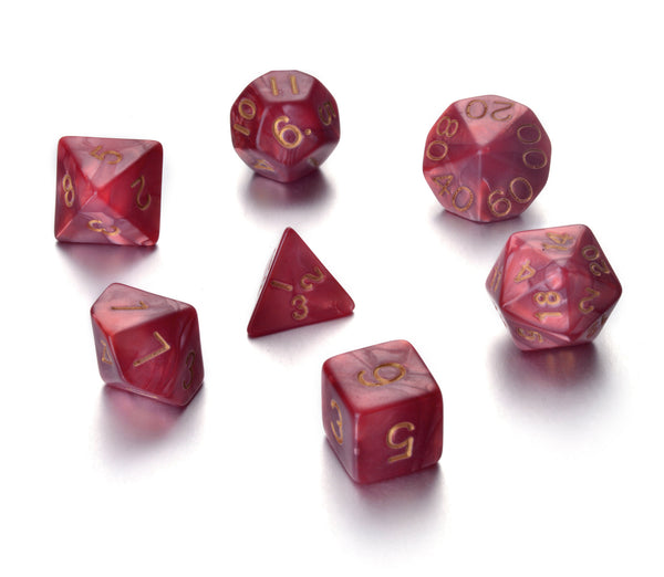 7 Die Polyhedral Role Playing Game Dice Set