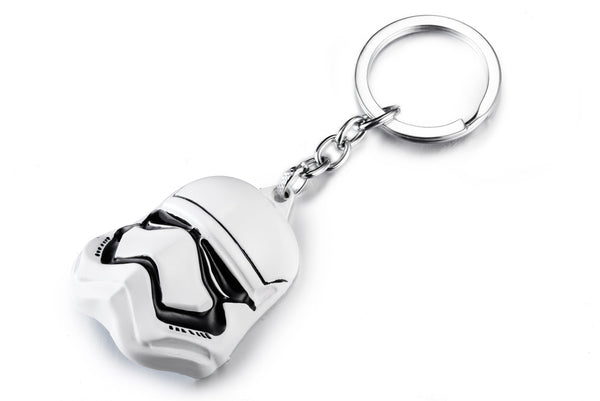 Movie Star WarsImperial Stormtrooper Mask Metal Pendant Keychain