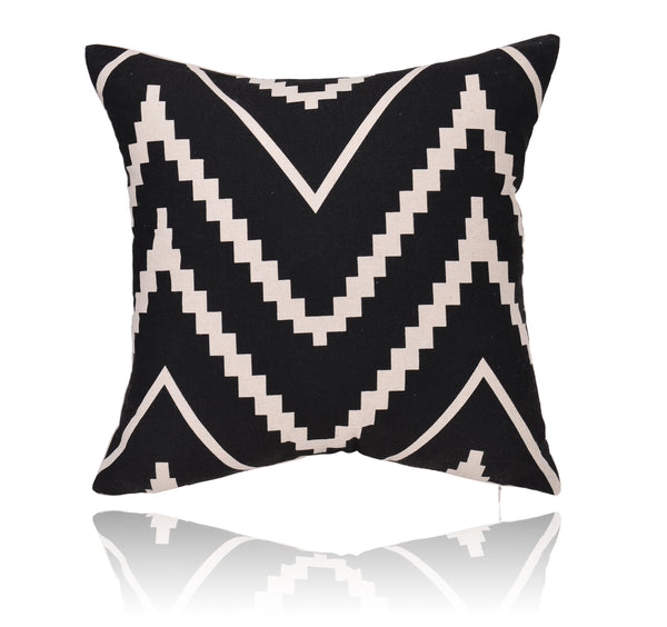 "18"" Stripe Print Cotton Linen Decorative Pillow Cover Cushion Case"