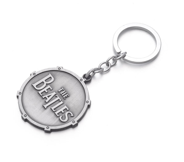 The Beatles Drum Logo Metal Keychain Key Ring