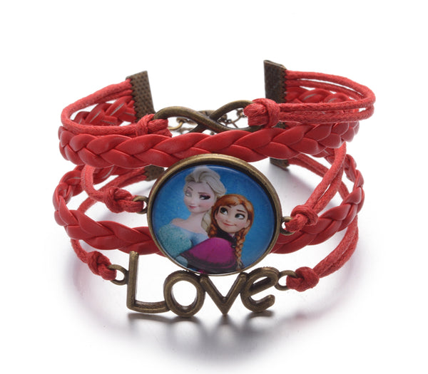 Frozen Infinity Love Leather Strand Bracelet
