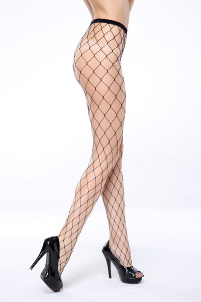 Women's Sexy Open X-Design Tights Rounded Toe Mesh Stockings