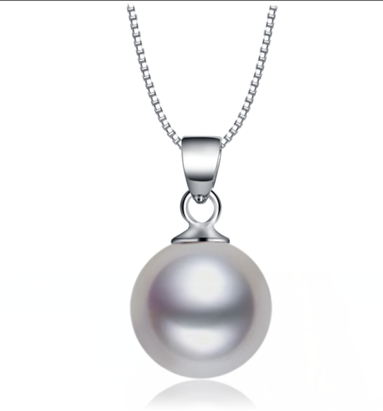Simple Yet Beautiful Pearl Sterling Silver Necklace with a Dainty and Elegant Chain