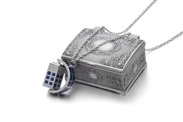 Doctor Who Spinning Tardis 3d Police Box Necklace