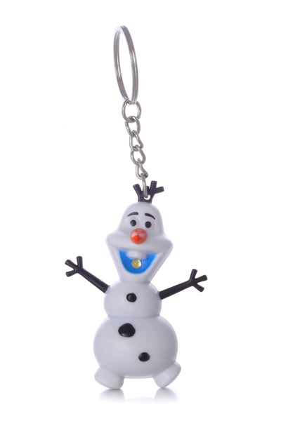 Disney Frozen Snowman Olaf LED Flashlight Keychain w/ Sound (I Love You)