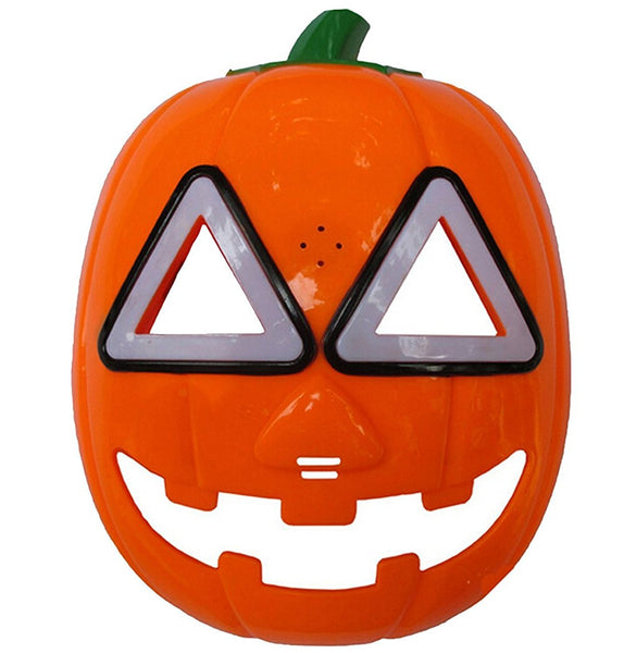 LED Light-Up Halloween Pumpkin Cosplay Mask