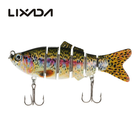 6 Segments Fishing Lure Bait with Artificial Hooks