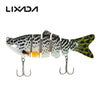 Image of 6 Segments Fishing Lure Bait with Artificial Hooks