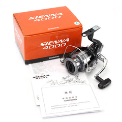 2016 Original Shimano SIENNA FE 1000 2500 4000 Spinning Fishing Reel 1+1BB Front Drag XGT7 Body Saltewater Carp Fishing Reel