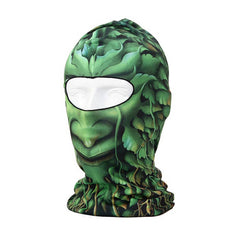 Green Trees Pattern Ski Neck Face