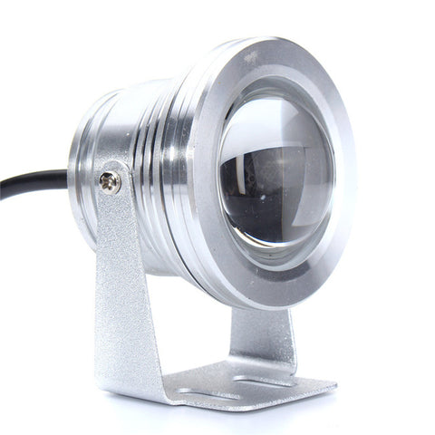 Aluminum Underwater Light DC 12V 10W Marine Boat Yacht Fishing Lamp Blue Light LED Floodlight