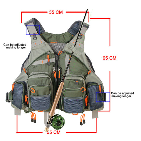 Adjustable Mesh Fishing Vest With Multiple Pockets