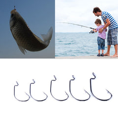 50pcs/lot fishing hook Crank hook Barbed fishhook fishing tackle single fish hook fishing accessories #EW