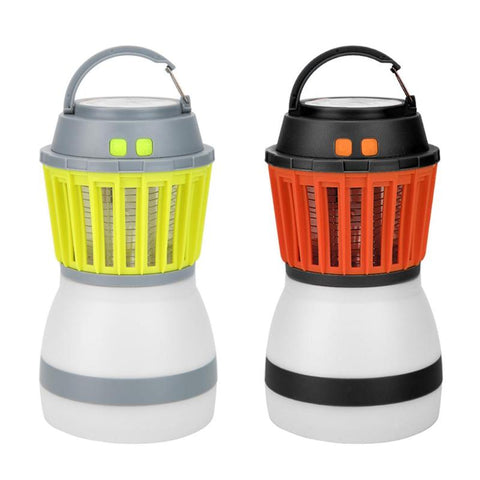 IP67 Waterproof LED Mosquito Killer Night Lamp Light Rechargeable Outdoor Insects Flies Pest Killer 5V with/without Solar Panel