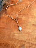 Cord Necklace with Stone Bead