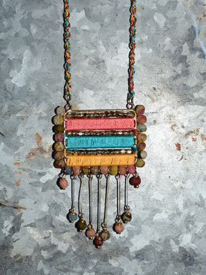 Sari Wrapped Bar Necklace