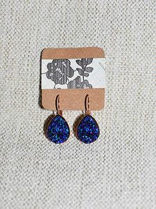 Blue Teardrop Dangles