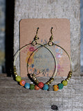 Beaded Wire Hoops