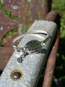 When Words Fail, Music Speaks Bracelet