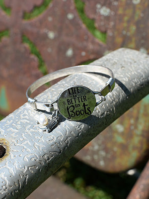 Life Is Better In Boots Bracelet